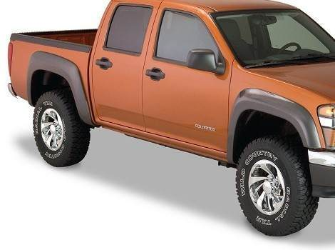 Chevy Colorado Extend-A-Fender Flare Front Pair, Bushwacker #41029-02