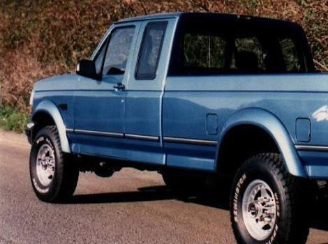 92-96 Ford Bronco Extend-A-Fender Flare Set of 4, Bushwacker #20904-11