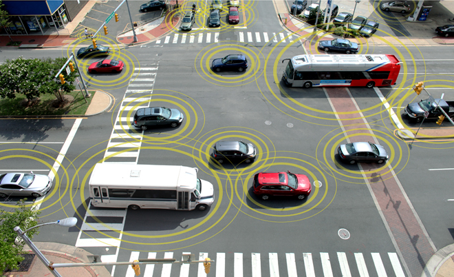 Connected Self-Driving Cars