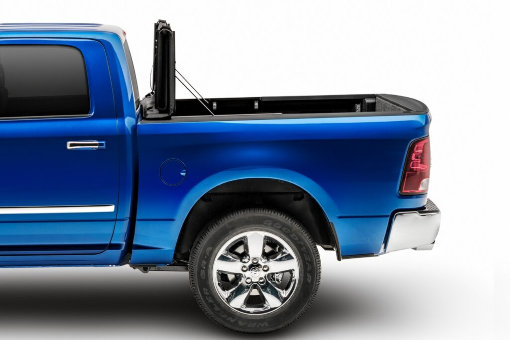 Extang emax folding tonneau cover opened