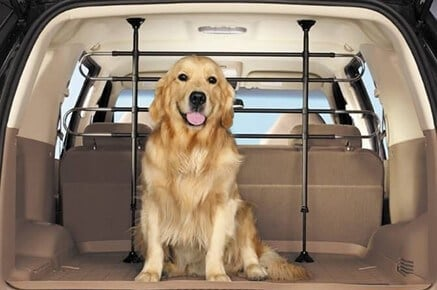 pet barrier fence kit to keep pets secure in vehicle seats behind the back seats