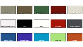 Paint color code swatches