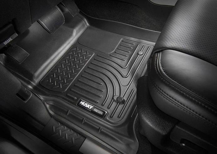 Husky WeatherBeater car mats installed