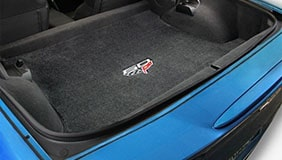 Lloyd trunk mat with Corvette logo embroidered