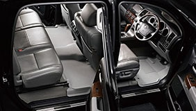 MAXpider floor liners installed in a sedan