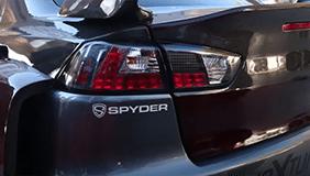 Spyder taillight installed