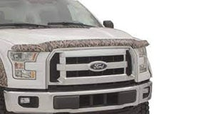 Stamped camouflage hood deflector installed