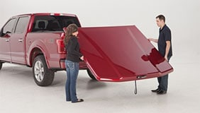 Painted UnderCover tonneau being installed
