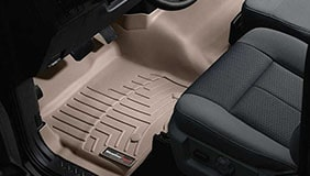 Tan WeatherTech liners installed