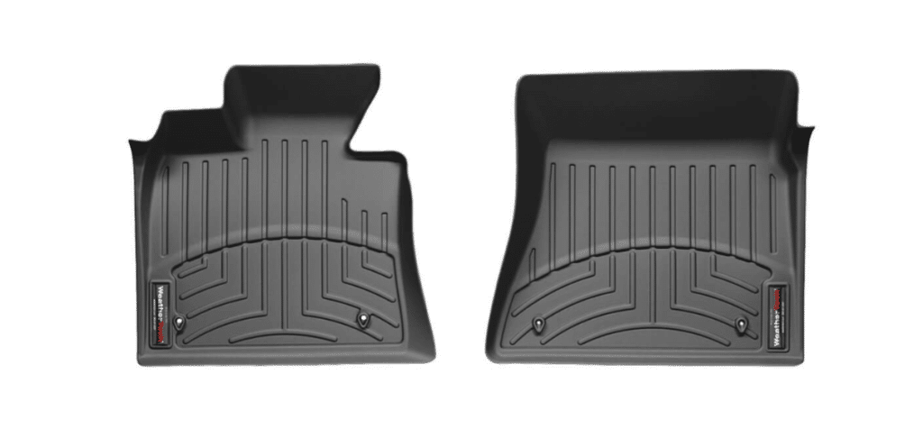 Photo of custom fit WeatherTech liners, out of the box