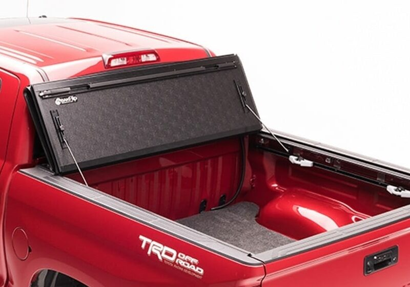 Photo of BAKFlip MX4 Tonneau Cover with cover fully open