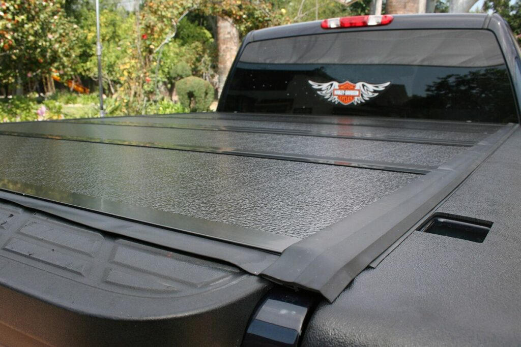 Close up of BAKFlip G2 installed on a truck