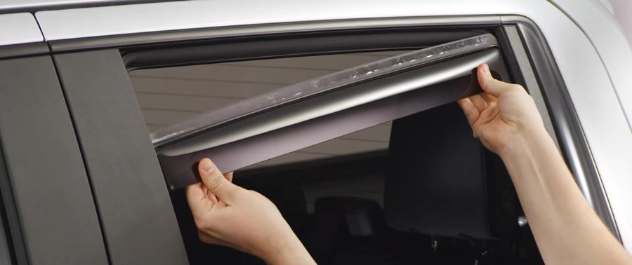 install rear seat WeatherTech side window deflectors to reduce noisy wind and interior heat