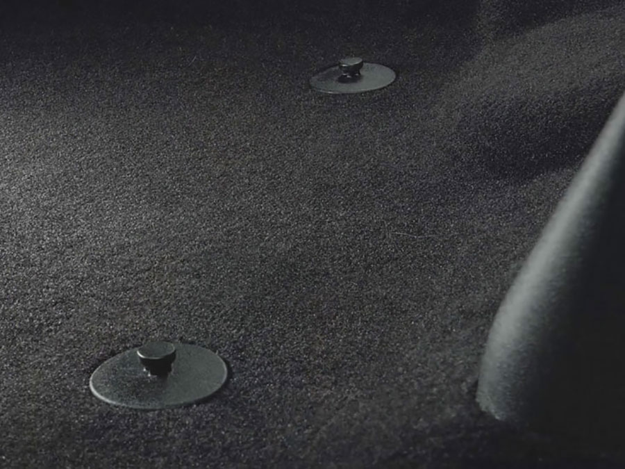 Remove Any Existing Floor Mats & the Yellow Safety Label