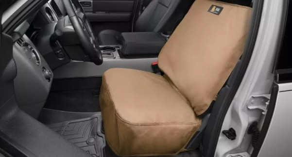 seat protector for the front seat, the perfect accessory for drivers that want to preserve vehicle interior