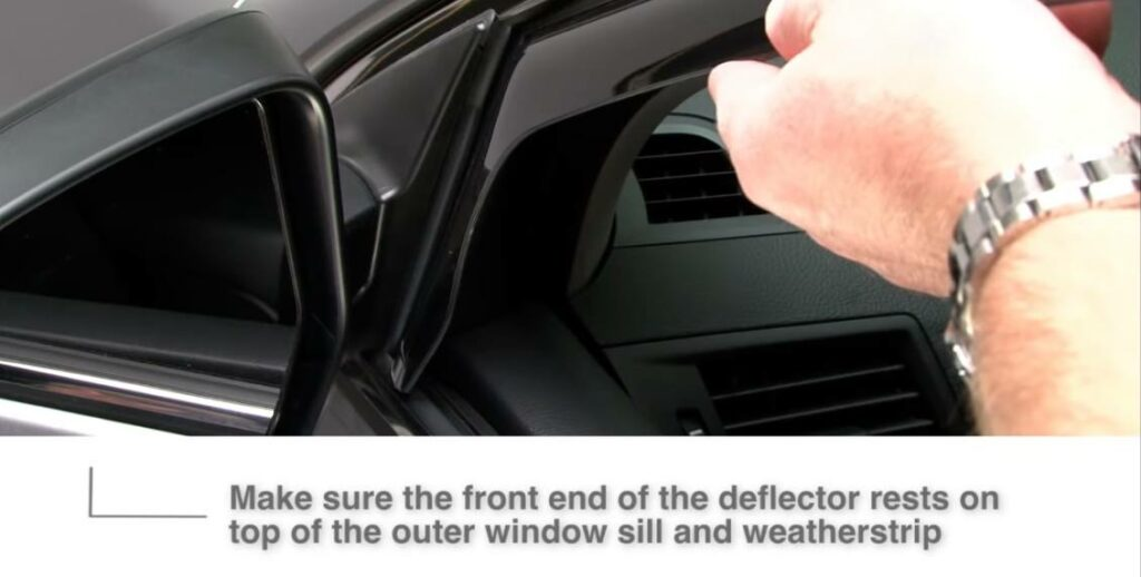 Installing window visors, installing front flange