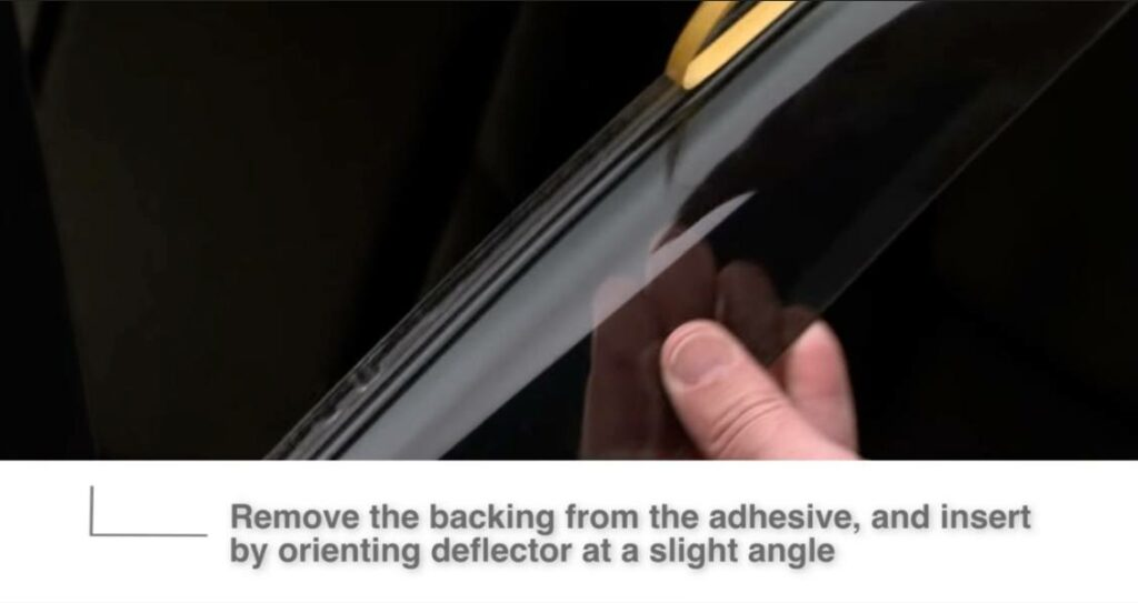 remove adhesive backing before installation