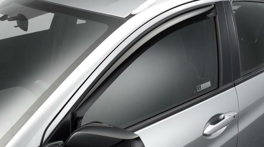 low profile window deflectors for the side window of a car for maximum fresh air enjoyment