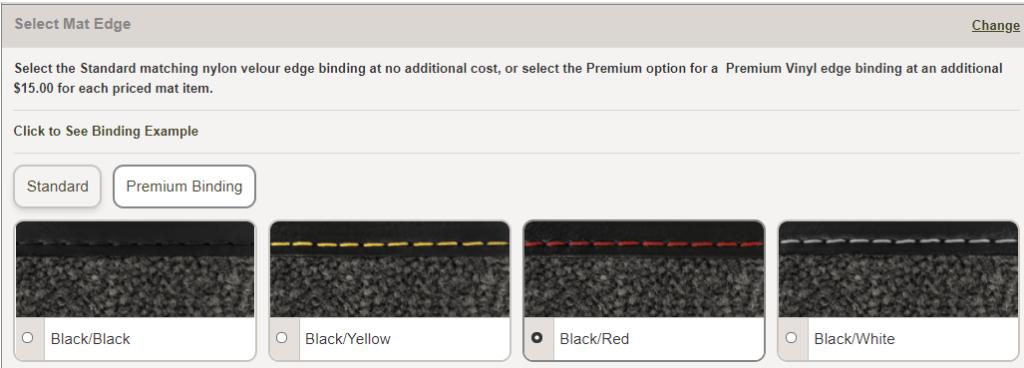 Car mat edge