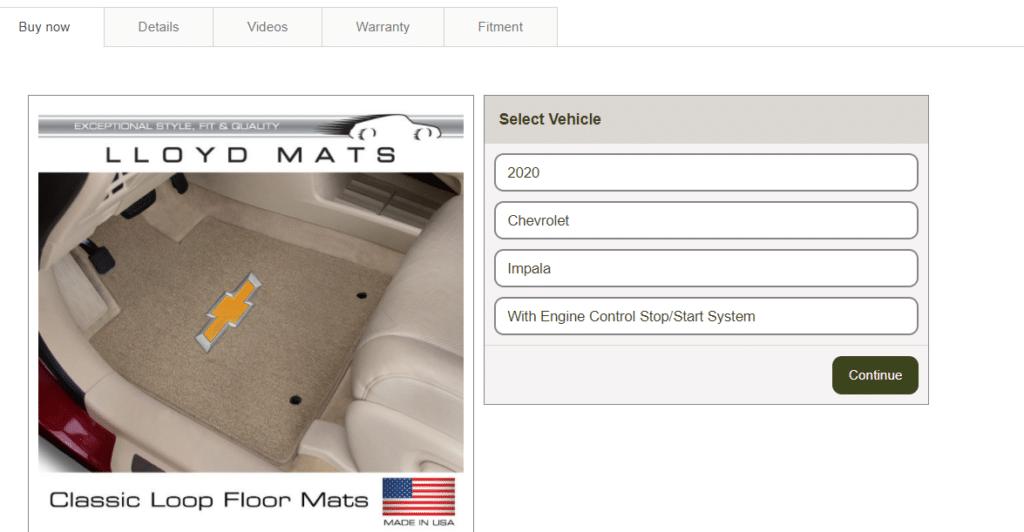 Classic Loop floor mats
