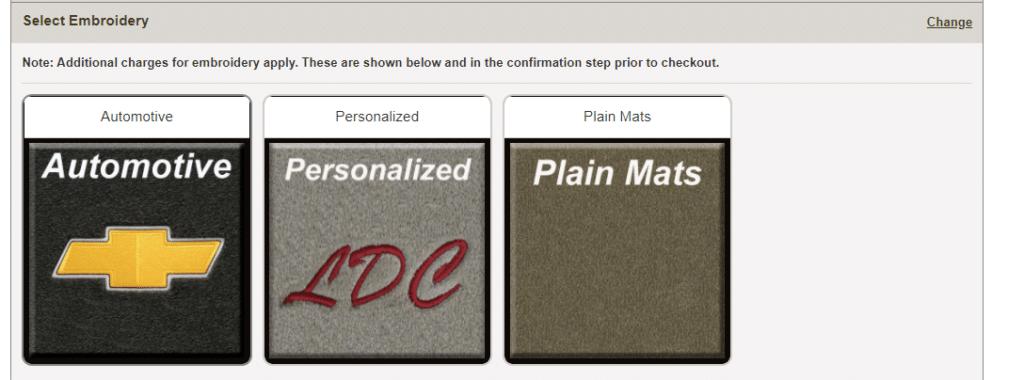 Car mat options