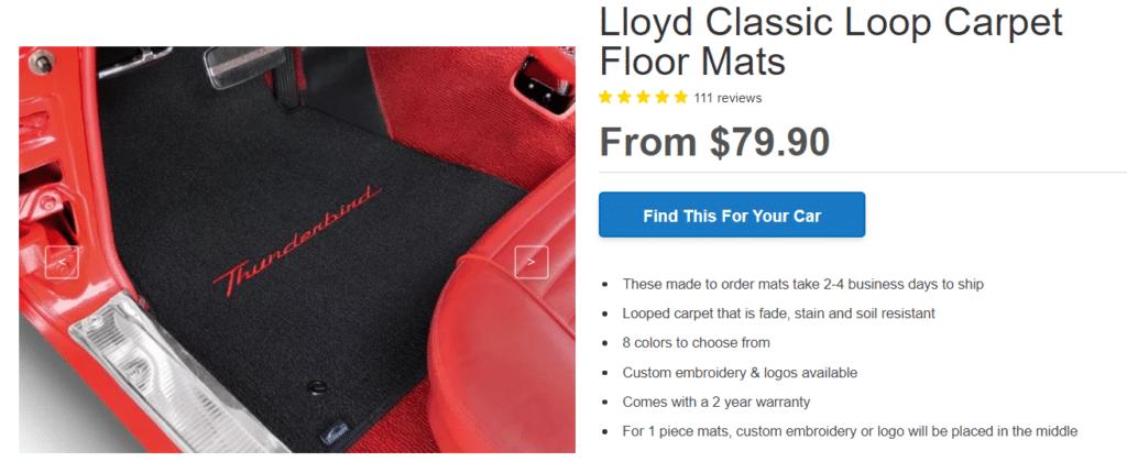 Lloyd Classic Loop car mats