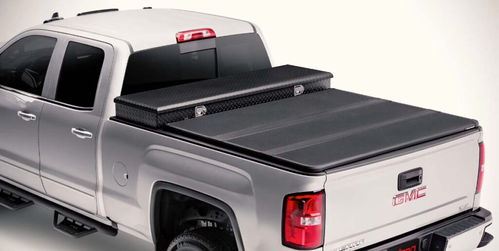 Extang solid fold tonneau closed and installed