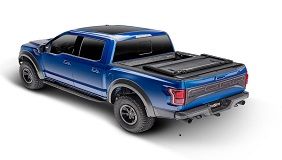 Fold-up front section feature on a TruXedo Deuce tonneau cover